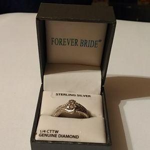 NWB Forever bride SS set wedding set rings